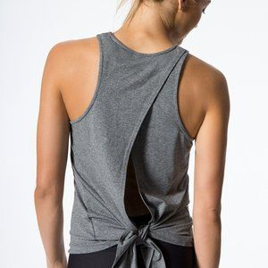 Carbon38 rally tank top open tie back size XS